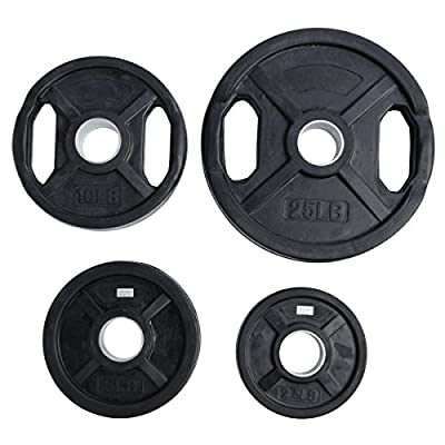 Ader Rubber Coated Olympic Grip Plate(s) by Ader Sporting Goods