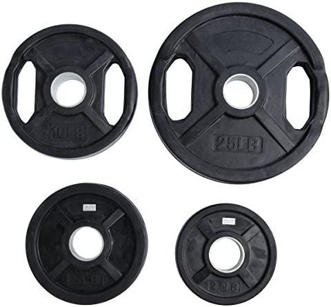 Ader Rubber Coated Olympic Grip Plate'
