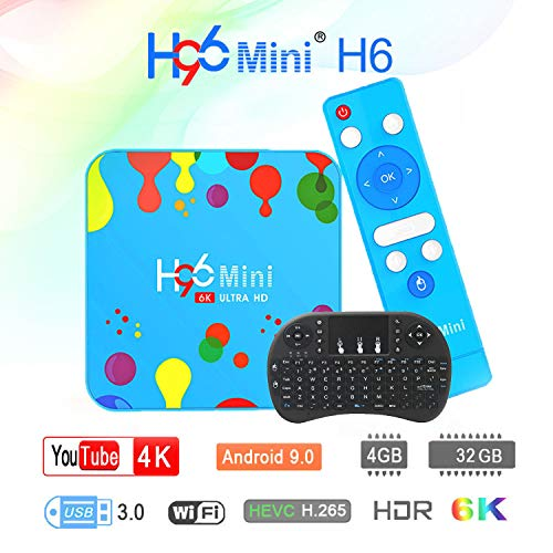 Android 9.0 TV Box Android Smart TV Box Media Player 4GB 32GB H96 Mini H6 Allwinner H6 Quad Core 6K BT 4.0 H.265 2.4G-5G…