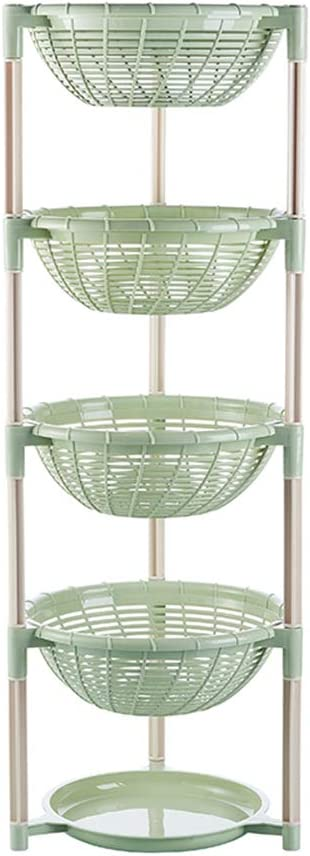 4 TIER VEGETABLE FRUIT STORAGE BASKET RACK KITCHEN STACKING STACKABLE CADDY TIDY