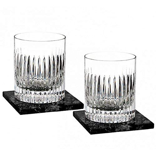 Aras Double Old Fashioned pair, w/Marble Coasters Set/2 by Marquis By Waterford (Image #1)