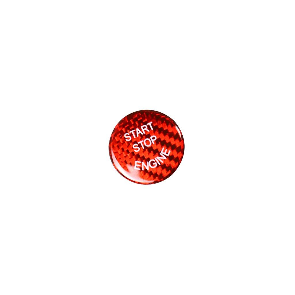 Ancher Carbon Fiber Start Stop Button Cap Sticker for BMW 1 2 3 4 5 6 7 X3 X4 F25//F26