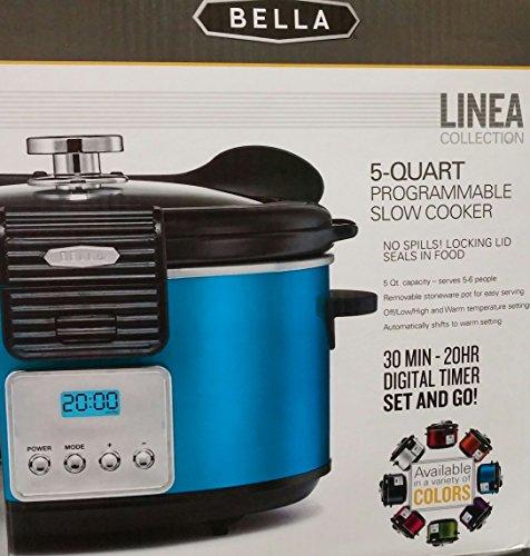 Bella Linea Collection 5 Quart Programmable Slow Cooker