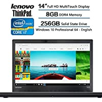 Lenovo 2017 Newest Flagship T470s Gaming Laptop, 14-inch Full HD (1920x1080) MultiTouch, Intel Core I7-4600u Processor (4M Cache, up to 3.90 GHz), 8GB DDR4 Memory, 256GB Solid State Drive, Windows 10