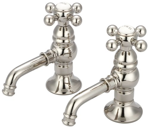 (Water Creation F1-0002-05-CL Vintage Classic Basin Cocks Lavatory Faucet)