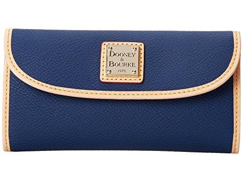 Dooney & Bourke Carley Coated Cotton Continental Clutch Midnight Blue