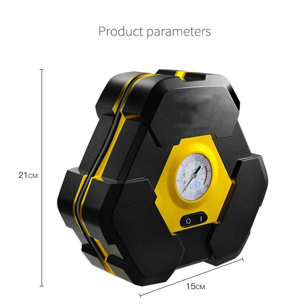 L&K Inflador portátil del neumático, bomba 12V DC del compresor de aire de Digitaces con la linterna incorporada de la emergencia para el coche, camión, ...