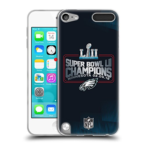 Official NFL Philadelphia Eagles 3 2018 Super Bowl LII Champions Soft Gel Case for Apple iPod Touch 5G 5th Gen