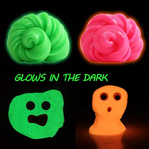 (CHAFIN Glow in The Dark Slime-2 Pack Intelligent Luminous Rubber Slime Mud Toys Putty Plasticine Toy Stress Relief for Kids and Adults)
