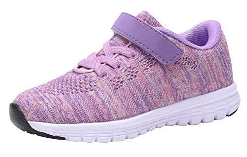 Umbale Girls Flyknit Sneakers Comfort Running Shoes(Toddler/Kids) (6 M US Toddler, New Pink)