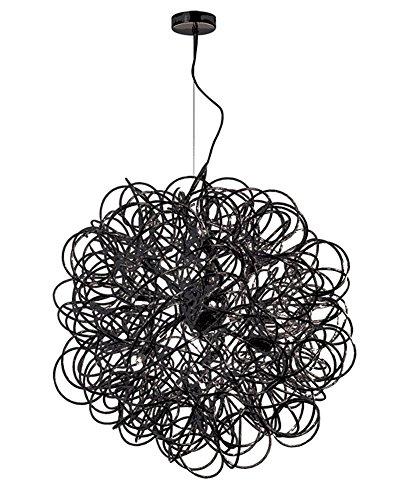 Dainolite Home Decorative 8 Light Tubular Pendant Black Finish, new (Eight Light Pendant Finish)