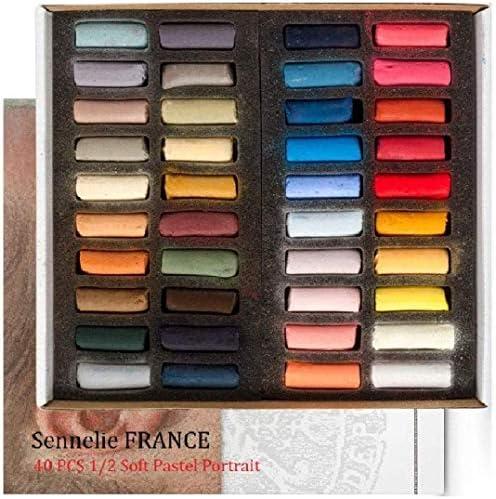 Sennelier Weiche Pastellkreiden - Box mit 40 halben Kreiden .Sennelier Pastel Dry 1/2 Sticks 40 PCS, Espacebeauxarts