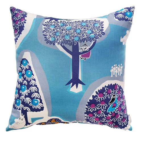 MOOMIN (Moomin) Tribute Works cushion cover 45 × 45 forest of various Blue