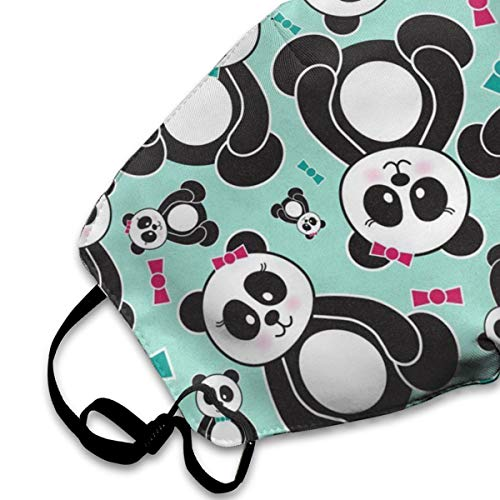 NOT Panda Bears Personality Lovely Unisex Dust Mask, Suitable for Young Men and Women, Ski Bike Camping Windproof Motorcycle Face Mask