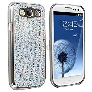 Viesrod - Silver Luxury Bling Glitter Coated Case Cover for Samsung Galaxy S3 III I9300