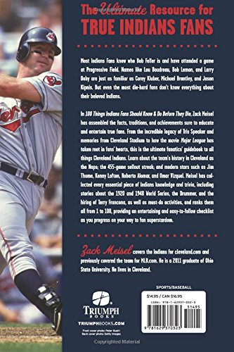 837518164bd 100 Things Indians Fans Should Know   Do Before They Die (100 Things...Fans  Should Know)  Zack Meisel