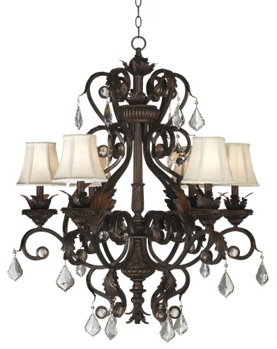 Kathy Ireland Ramas de Luces Bronze 30″ Wide Chandelier