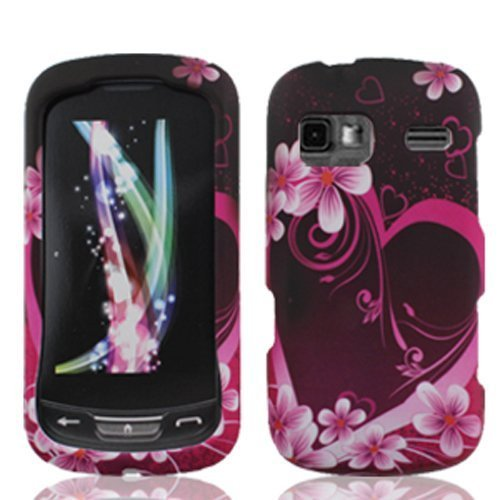 Bundle Accessory for AT&T LG Xpression C395 - Pink Heart Design Hard Case Protector Cover + Lf Stylus Pen for LG Xpression