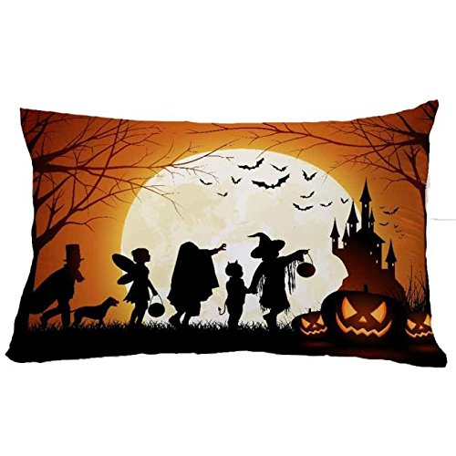 Clearance Sale!Toimoth Halloween Square Pillow Cover Cushion Case Pillowcase Zipper Closure(I,I) -