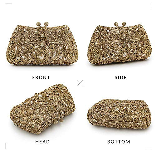 Cocktail Superw Bags Bling Crossbody Bag Alloy Party Wedding Metal Evening Handbag Clutch Handbag B Women's Women w8awn1Fq