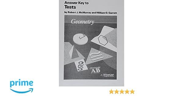 McDougal Littell Jurgensen Geometry: Answer Key, Tests Geometry ...