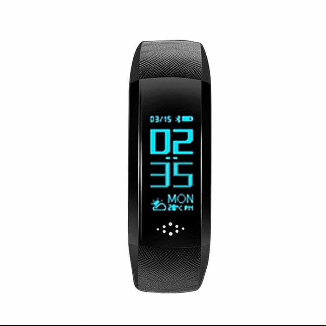 Pulsera Actividad,Pulsómetro Podómetro pulsera con Rastreador de Salud Monitor de Ritmo Cardíaco Ritmo Cardiaco Alarma y Cronómetro para Android y iOS Telfono DiiRoo