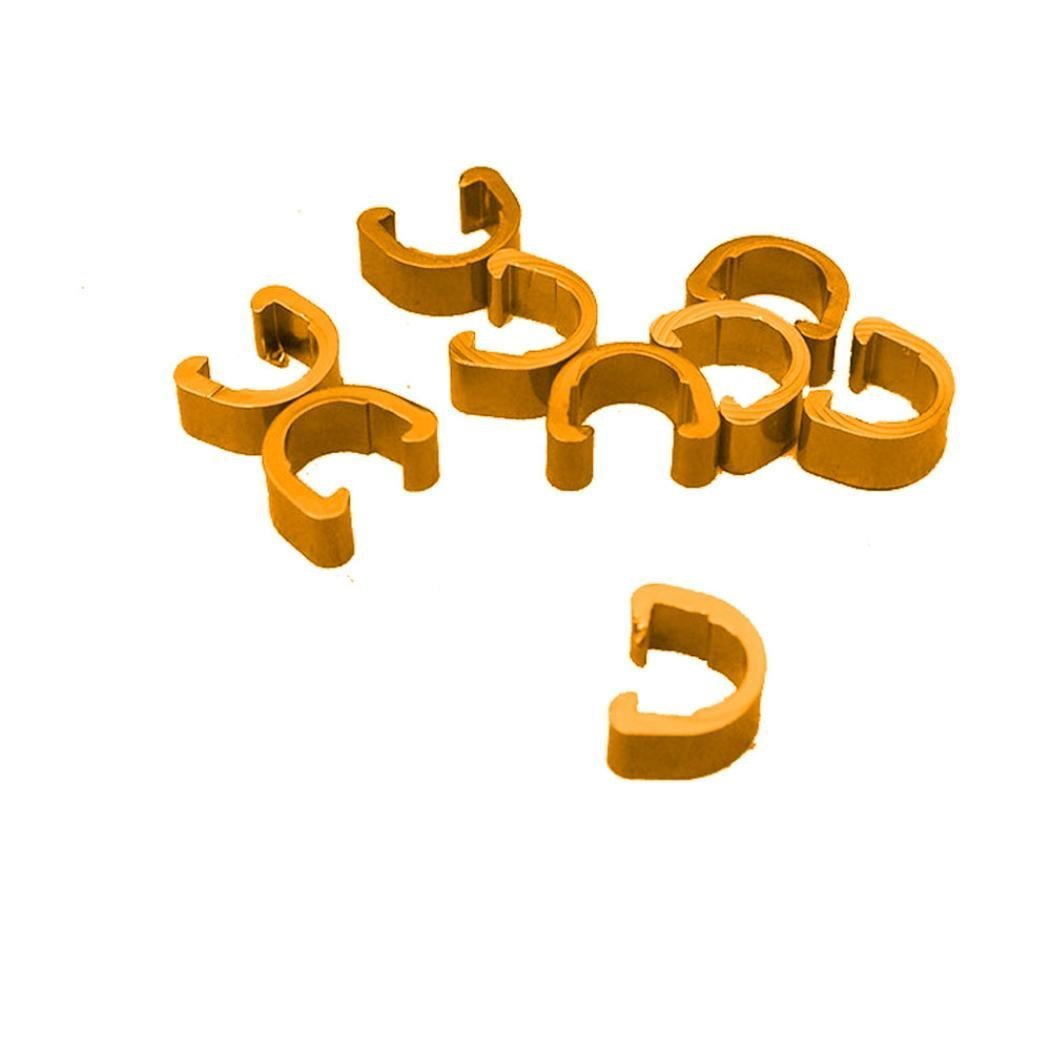 10PCS Bicycle Cycle Bike MTB C-Clips Buckle Hose Brake Gear Cable Housing Guide