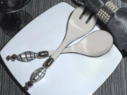 Murano Art Deco Collection Salad Server Set by Cassiani