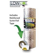 """ESP Low-E® SSR Reflective Foam Core Insulation Kit: Roll Size 24""""x25' Includes 25' Foil Tape, Knife & Squeegee. Multipurpose Home Insulation For Your Building Project or Just Every Day Household Needs. 1 Product, Many Uses It's Just That Simple"""