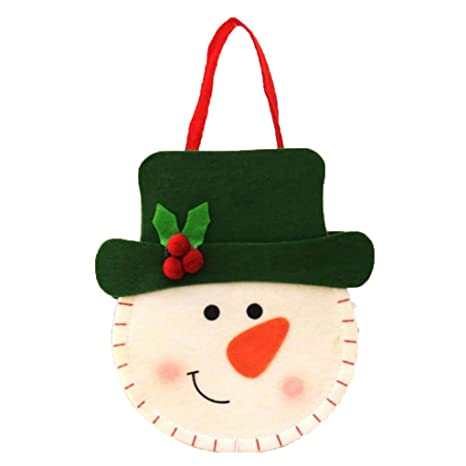 Amazon.com: Topker us 3D Christmas Felt Cloth Sweets Bag ...