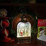 Christmas Music Snow Globe Lantern,Hand-Hold