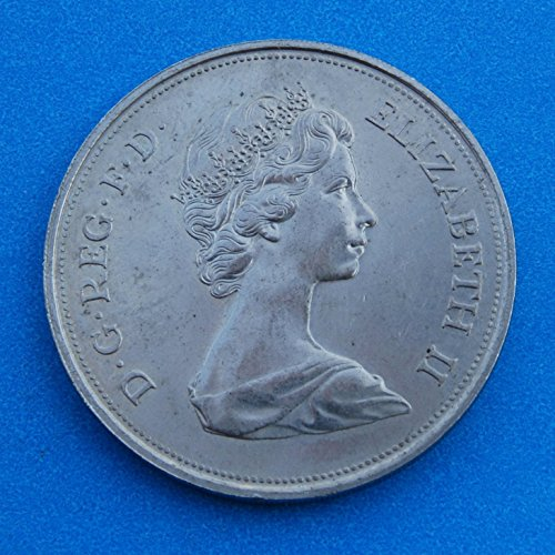 England 25 New Pence - Queen Elizabeth II 2nd portrait; Silver Wedding 1947 - 1972 Coin