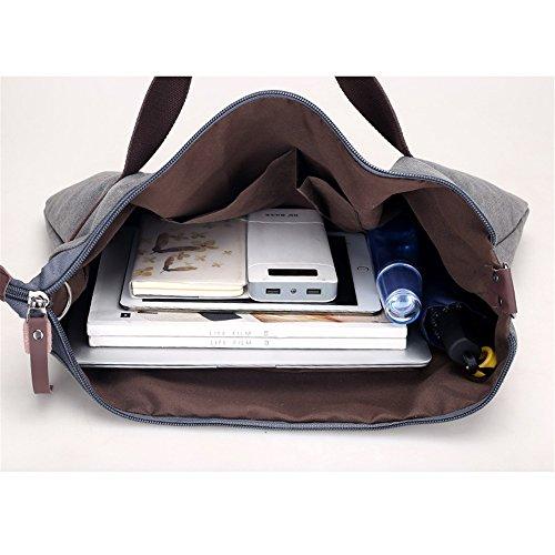 Commuter Asdflina rétro capacité Loisirs Canvas Bag Grande Couleur à Convient Sac Grande Un bandoulière capacité Quotidien pour Usage qrqwcx1Spv
