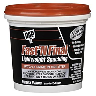DAP 12142 Fast N Final Interior and Exterior Spackling, 1-Quart Tub life
