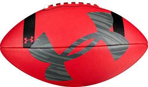 Under Armour 295 Composite Football, Red/Black/Grey, Official Size