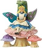 Jim Shore for Enesco Disney Traditions Alice on Mushroom Figurine, 6.5-Inch
