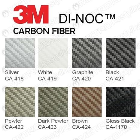 Flex Vinyl Wrap 3M DI-NOC CA-421 BLACK CARBON FIBER 4ft x 1ft 4 sq//ft