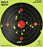 Splatter Spots 12'' Bullseye 100, 50, 25 and 10 Packs - See Your Hits Instantly (100)