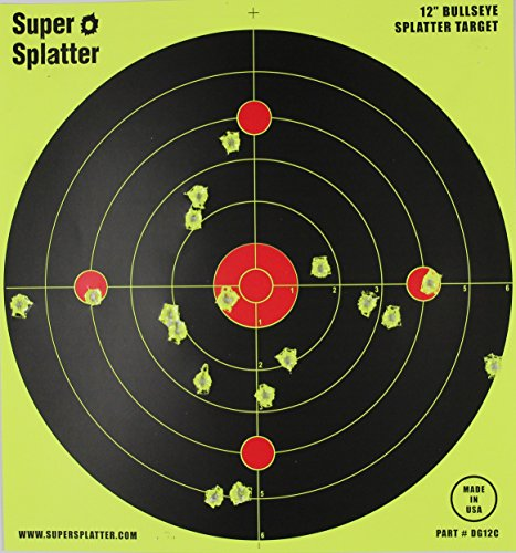 12-Bullseye-Super-Splatter-Targets-100-50-25-10-Packs-Creates-Huge-Super-Splatter-Spots-See-Your-Hits-Instantly