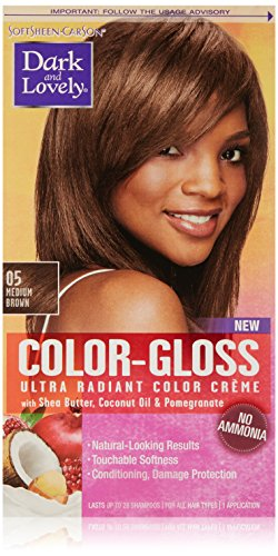 SoftSheen-Carson Dark and Lovely Color-Gloss Ultra Radiant Color Crème, Medium Brown 05