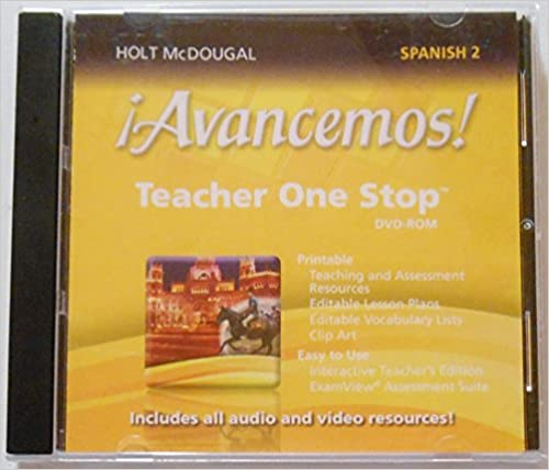 Amazon avancemos teacher one stop planner dvd rom level 2 avancemos teacher one stop planner dvd rom level 2 2013 spanish edition spanish 1st edition fandeluxe Choice Image
