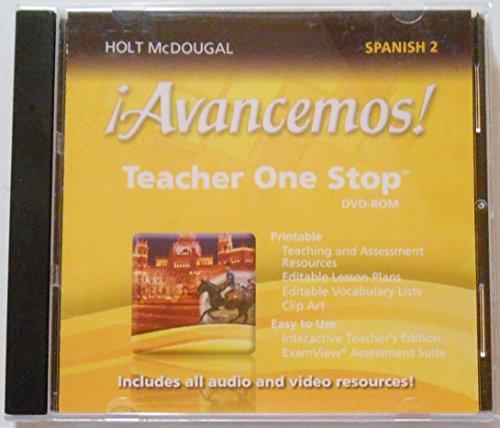 Â¡Avancemos!: Teacher One Stop Planner DVD-ROM Level 2 2013 (Spanish Edition)