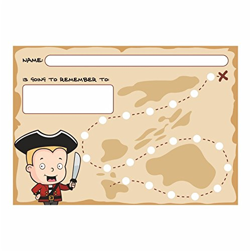 A4 Treasure Map Reward Chart with 10mm Stickers AMZ