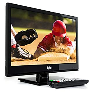 Tyler 15.6-Inch Digital LED Widescreen Television - Full Ultra HD 1080p Monitor Flat Screen TV with Stand - HDMI, USB, VGA and Coaxial Port Input – Wall Mountable – Mac PC – Stereo Speakers - AC/DC