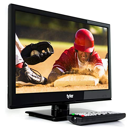 - Tyler 15.6-Inch Digital LED Widescreen Television - Full Ultra HD 1080p Monitor Flat Screen TV with Stand - HDMI, USB, VGA and Coaxial Port Input - Wall Mountable - Mac PC - Stereo Speakers - AC/DC