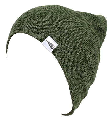 - KooL Hop Kids Boys Girls Baby 100% Pure Cotton Knit Basic Beanie Hat Cap Khaki