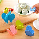 GuiXinWeiHeng 10pcs Kitchen insulation anti-hot anti-scalding disk holder high temperature anti-hot clip (color random)