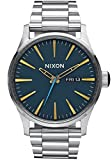 Nixon A356-2076 Mens Sentry SS Navy Brass Tapered Strap Watch
