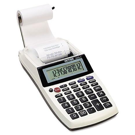 Amazon com : Victor 12-digit Portable Printing Calculator : Office