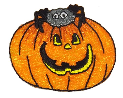 Halloween Pumpkin Iron On Applique -